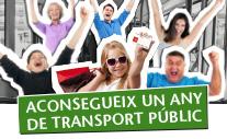 Guanya un any de transport públic
