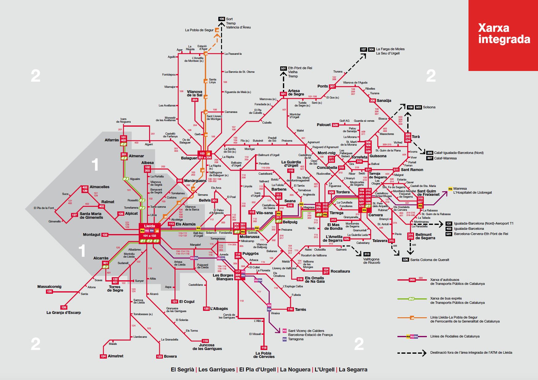 Mapa De Zonas Renfe.Zonas De Mobilidad